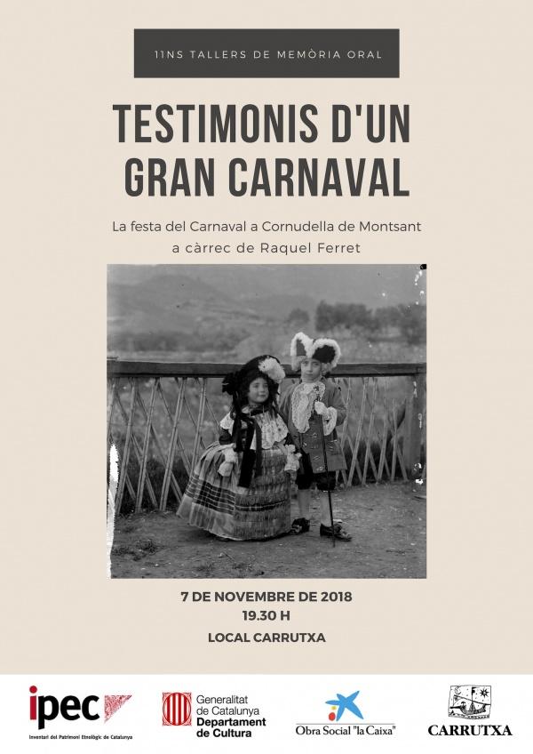 Foto TESTIMONIS D'UN GRAN CARNAVAL