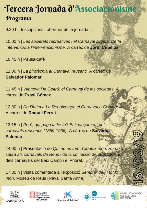 Programa de la III Jornada d'Associacionisme i Cultura Popular