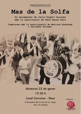 Presentació del documental Mas de la Solfa